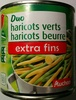 Duo haricots verts haricots beurre extra fins - Product