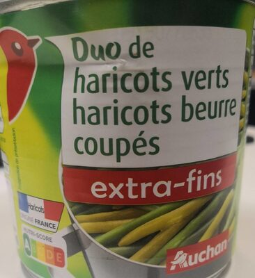 Duo haricots verts haricots beurre extra fins - Produit