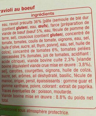 Ravioli au bœuf - Ingrédients