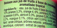 Rik & Rok Tropical - Ingredienti - fr