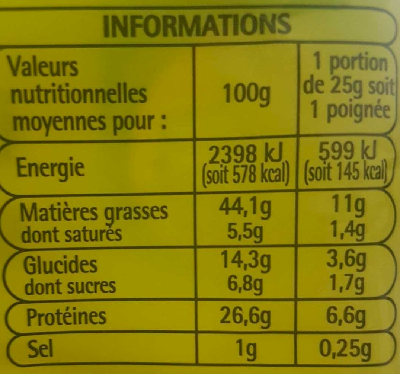 Cacahuètes grillées à sec - Informations nutritionnelles - fr