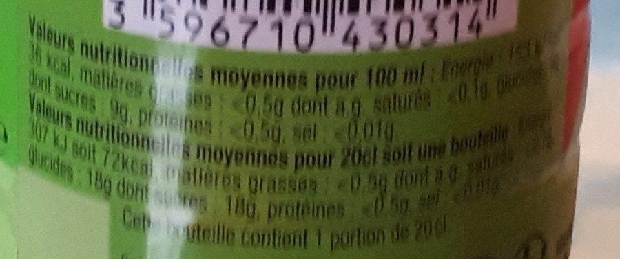 Boisson aux jus de fruits Fruits Rouges - Voedigswaarden