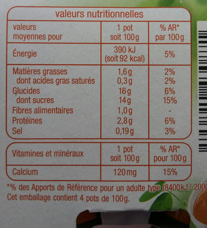 Dessert Soja au Caramel AUCHAN - Informations nutritionnelles - fr