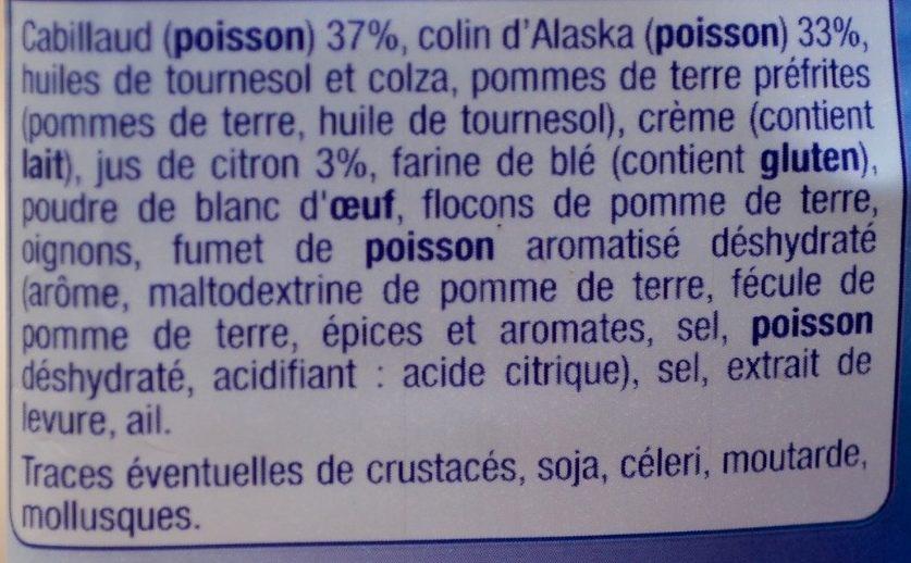 Les Hachés Cabillaud & Colin d'Alaska au Citron - Ingrédients - fr