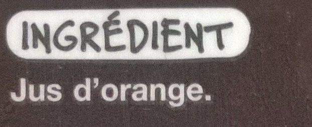 Pur jus d'Orange du Brésil - Ingrédients