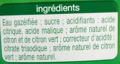 Lemon Lime Saveur citron & citron vert - Ingrédients - fr
