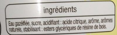 Boisson pétillante saveur piña colada sans alcool - Ingrédients - fr