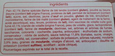 8 mini Hot dog - Ingredients