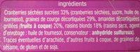 Form - Ingredients - fr