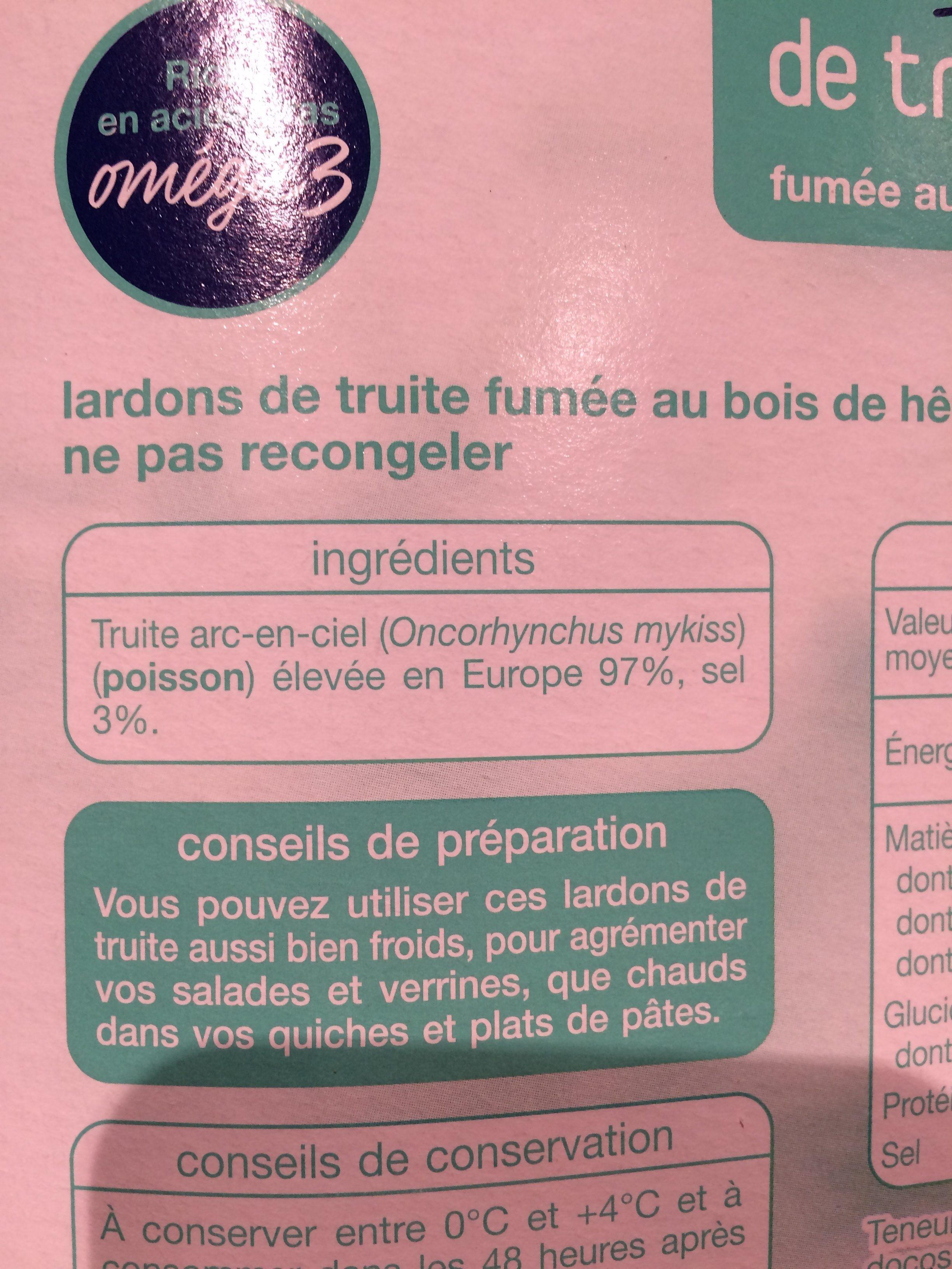 Lardons de truite - Ingrediënten - fr
