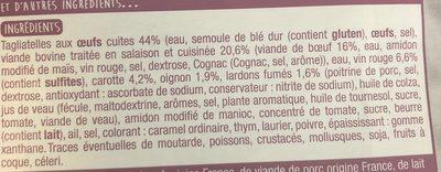 Bœuf bourguignon & ses tagliatelles - Ingrediënten - fr