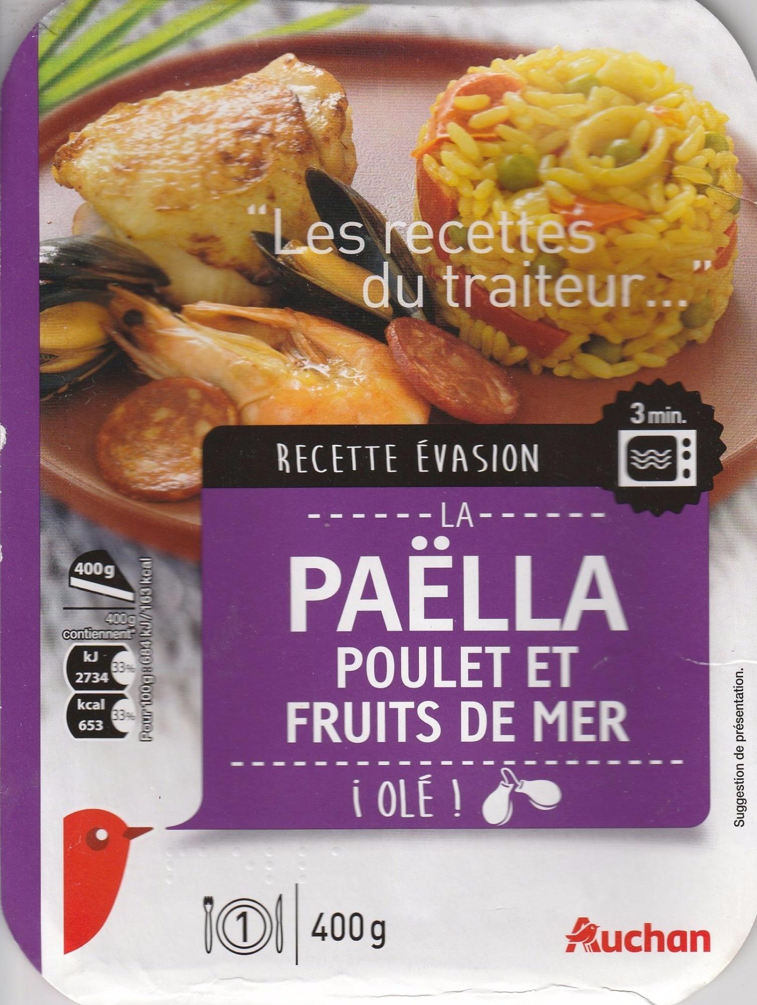 Paëlla Poulet et Fruits de Mer - Product - fr