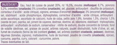 Paëlla Poulet et Fruits de Mer - Ingredients - fr
