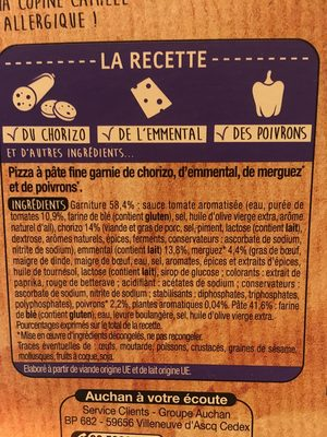 Pizza orientale - Ingredients