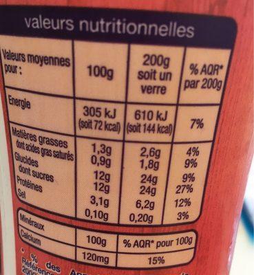 Yaourt a boire saveur fraise - Nutrition facts