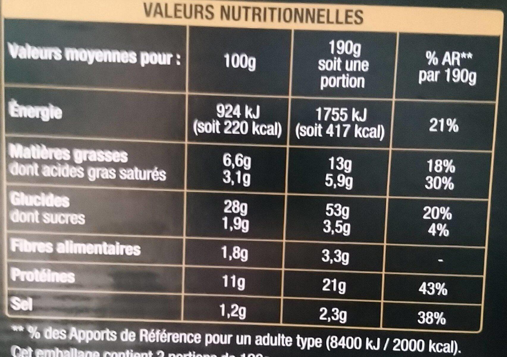 Pizza Classico - Informazioni nutrizionali - fr