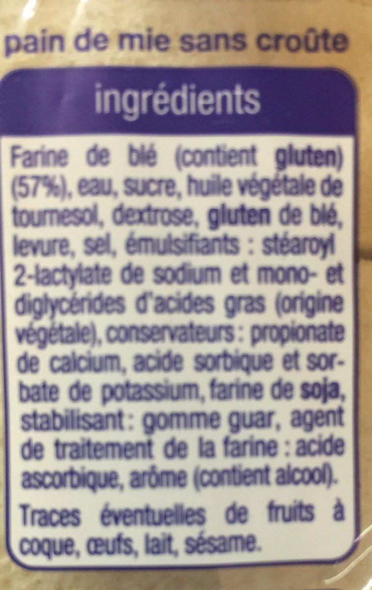 Carré de mie - Ingrédients - fr