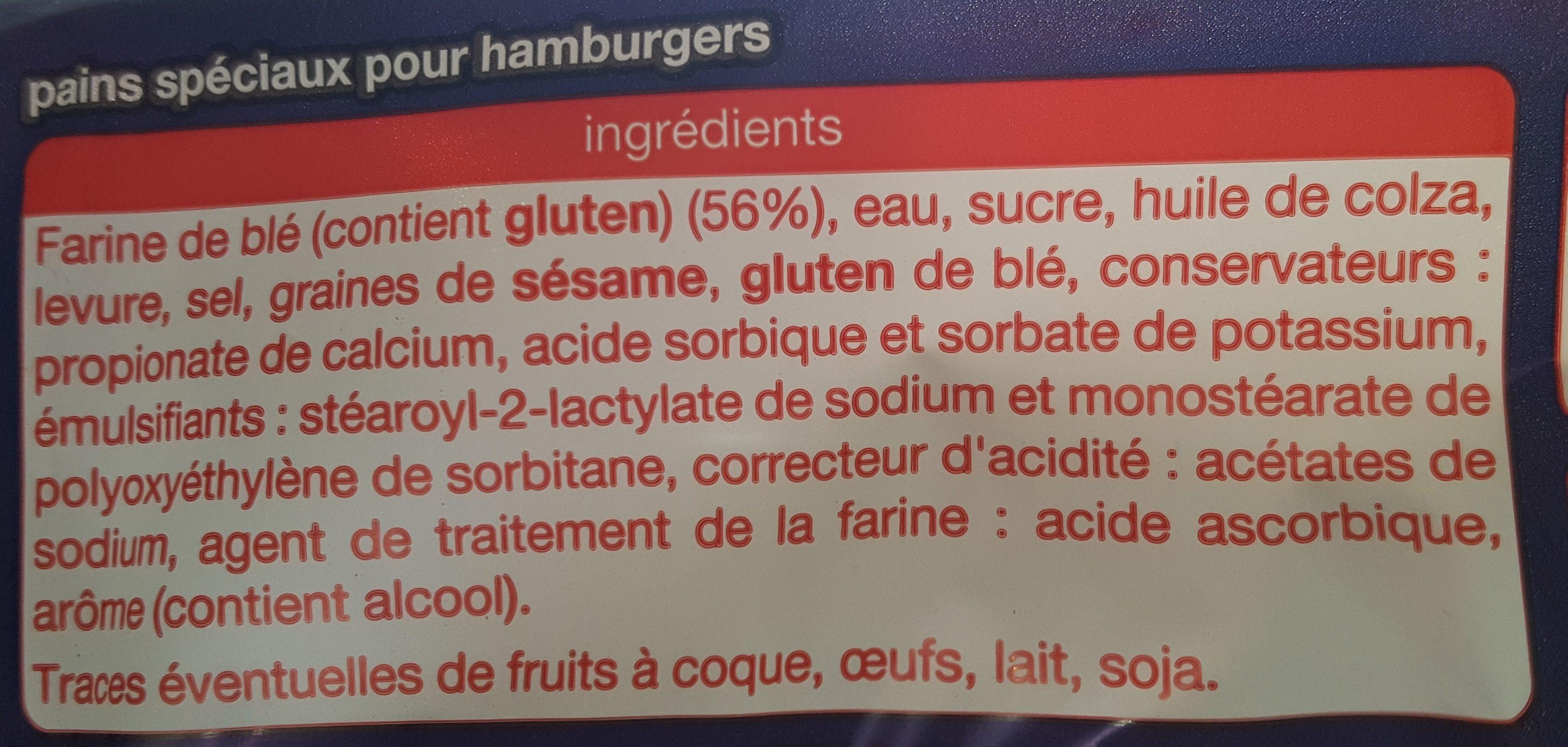 Pain Burger - Ingrediënten - fr