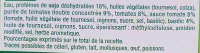 Boulettes au Soja - Tomates, Basilic - Ingredients - fr