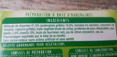 Bolo' D'aubergines Grillées - Ingrédients - fr