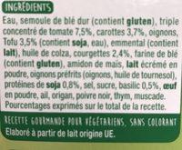 Lasagne Légumes, Tofu - Ingrediënten - fr