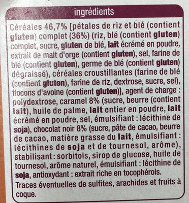 Barres Déliform Chocolat Caramel - Ingrediënten - fr