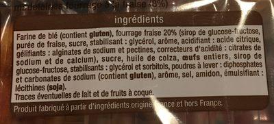 Madeleine fourée fraise - Ingrediënten - fr