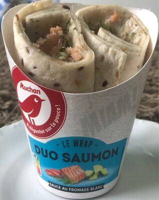 Wrap - Duo Saumon ( sauce au fromage blanc ) - Product - fr