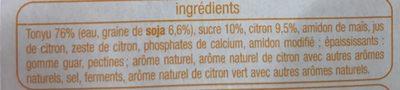 Soja Citron - Ingredienti - fr