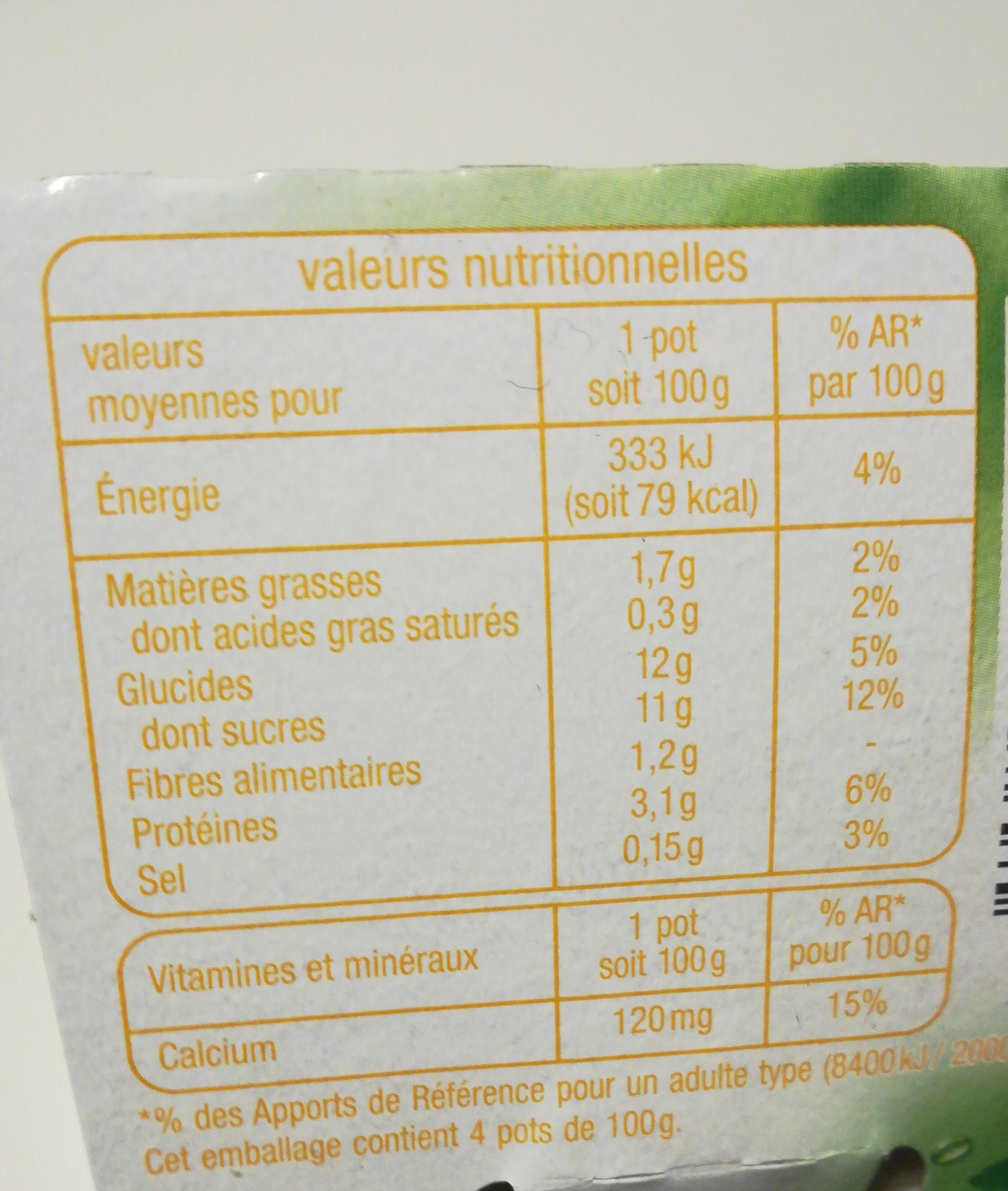 Soja Citron - Valori nutrizionali - fr