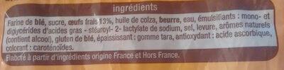 Brioche tranchée aux oeufs frais - Ingrédients