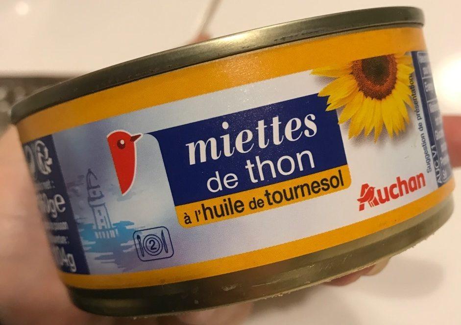 Miettes de thon à l'huile de tournesol - Produit