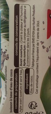 Eau de coco - Ingredienti - fr