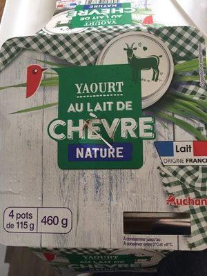 Yaourt nature lait de ch vre auchan 460 g 4 115 g - Yaourt maison lait de chevre ...