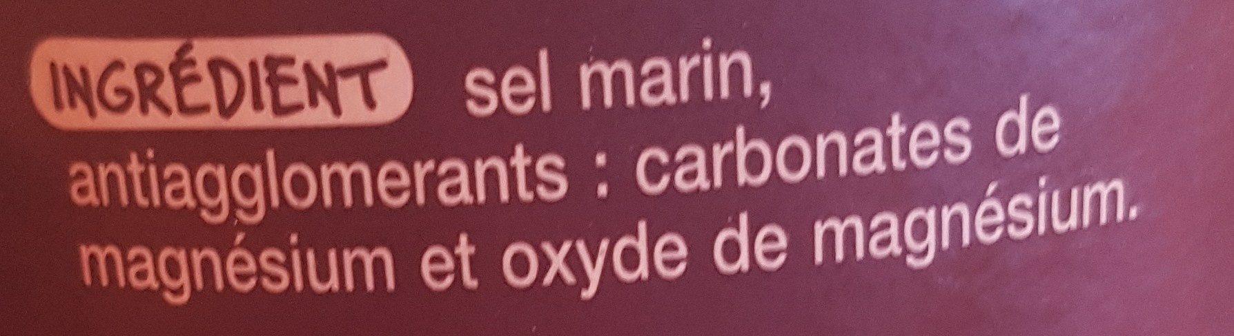 Sel fin de Camargue - Ingrédients