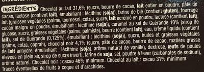 Pavés gourmands caramel beurre salé Mmm - Ingrédients - fr