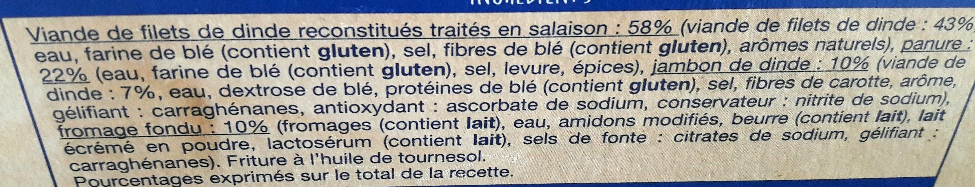 Cordons Bleus de Dinde - Ingrédients