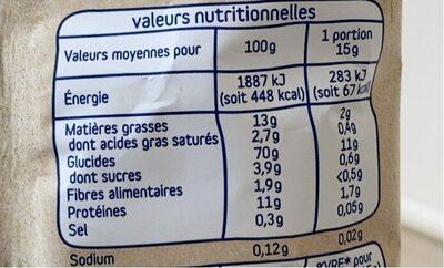 Mon petit crousti au cheddar - Informations nutritionnelles - fr
