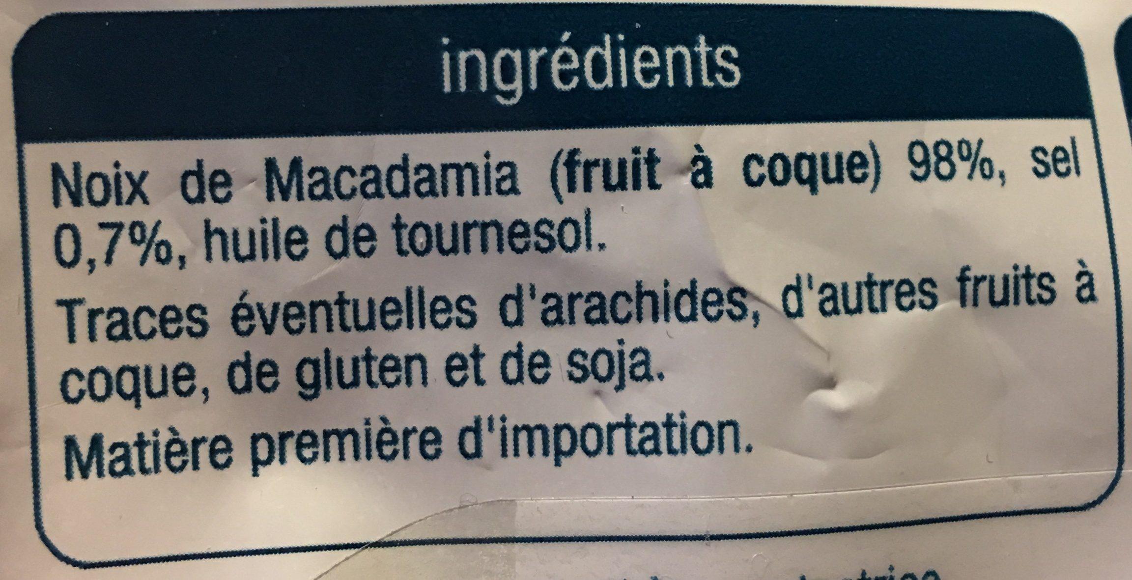 Noix de macadamia - Ingredients