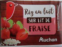 Riz au lait sur lit de fraise - Auchan - 460 g (4 * 115 g) - Informations nutritionnelles - fr