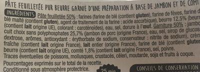 Feuillantine Comtoise - Ingrédients - fr