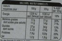 Feuillantine Comtoise - Informations nutritionnelles - fr
