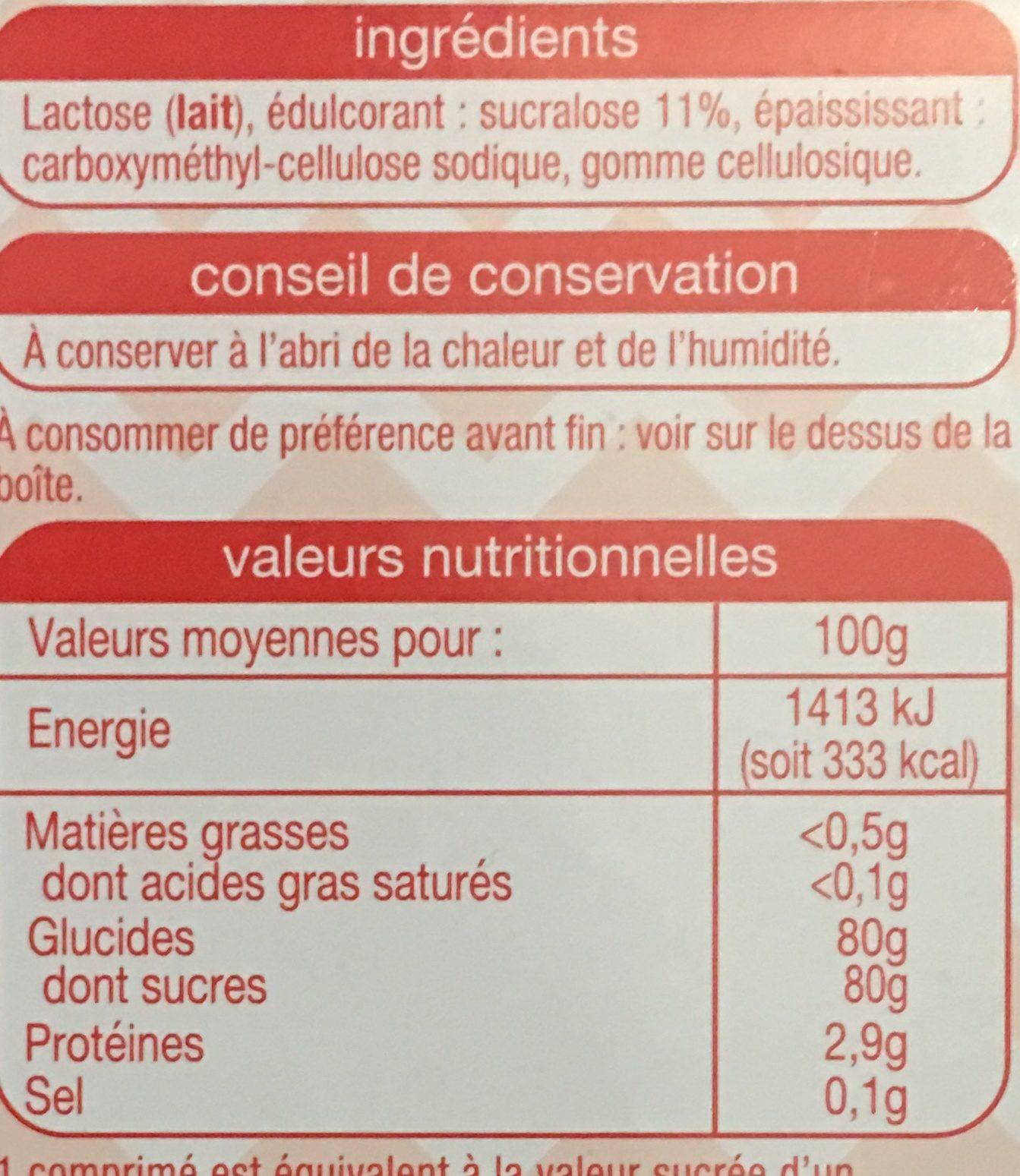 Sucralose - Ingrédients - fr
