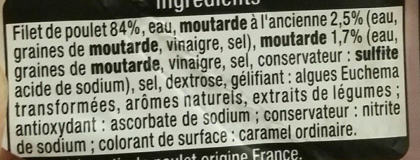 Filets de poulet à la moutarde - Ingrediënten - fr