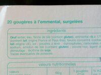 20 gougères à l'emmental - Ingrediënten