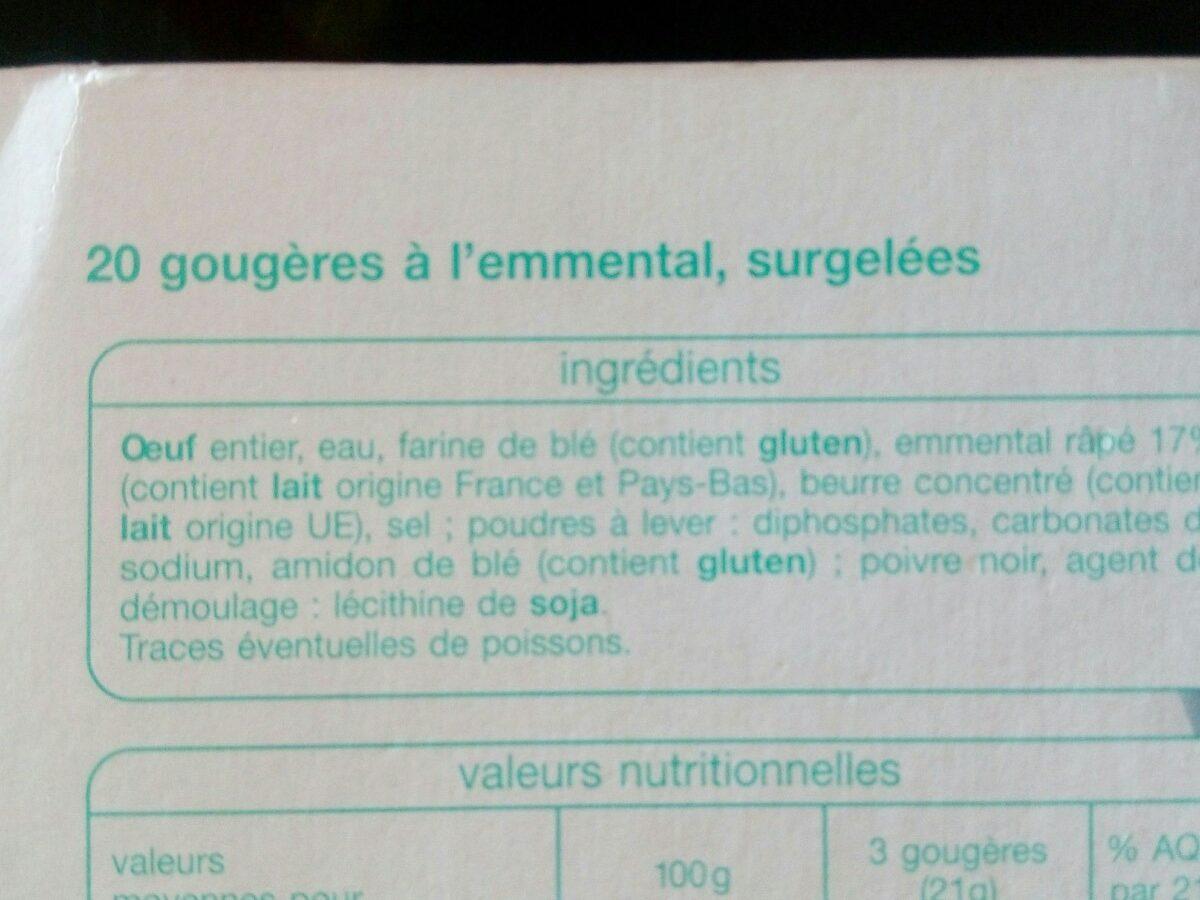 20 gougères à l'emmental - Ingrédients - fr