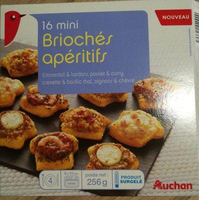 16 mini briochés aperitifs - Produit