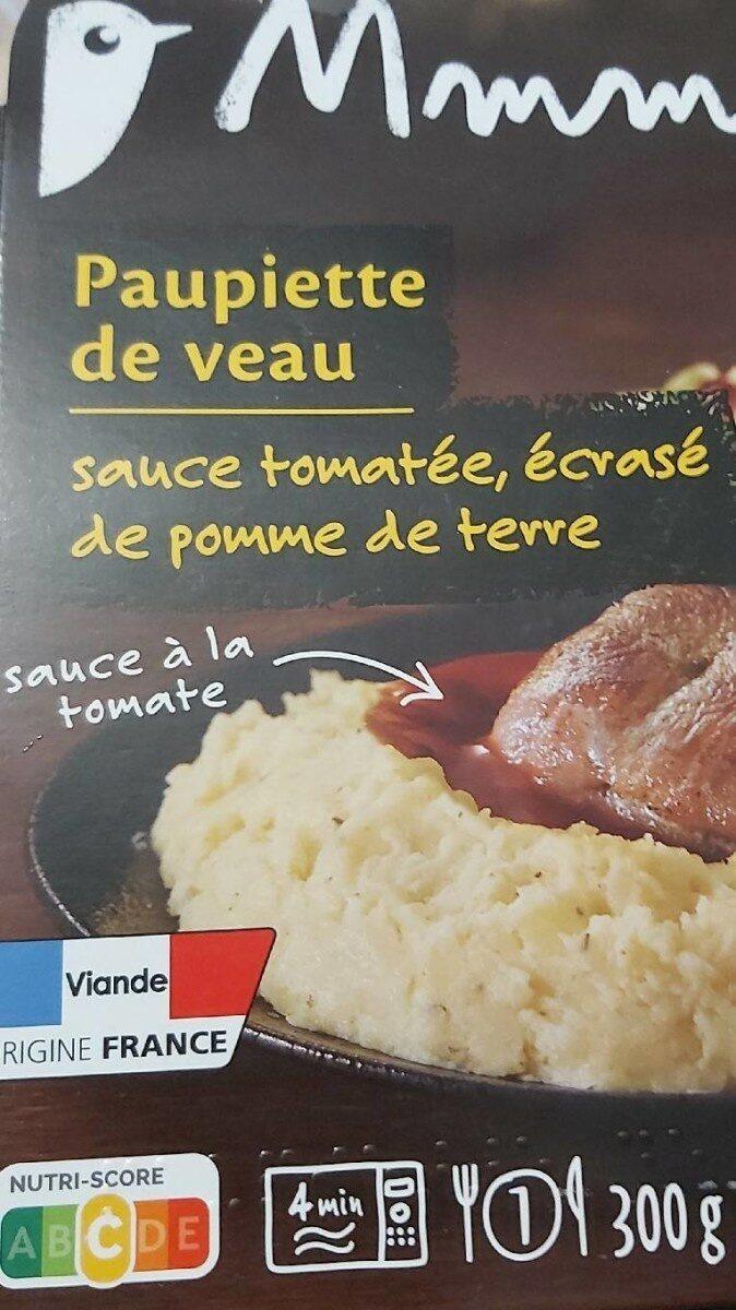 Paupiette de veau et son écrasé de pomme de terre - Prodotto - fr