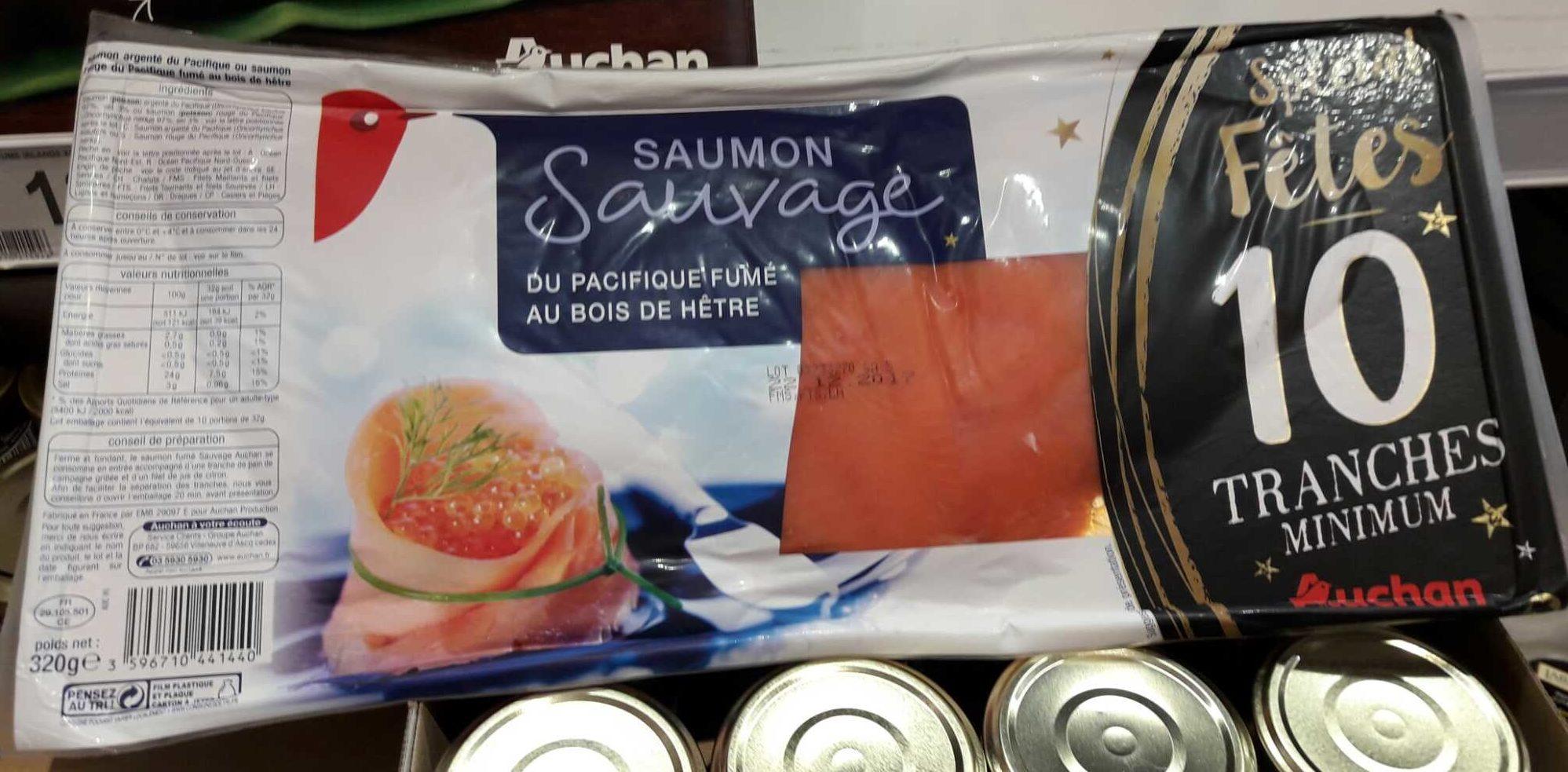 Saumon Sauvage du Pacifique Fumé au Bois de Hêtre - Product - fr