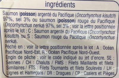Saumon Sauvage du Pacifique Fumé au Bois de Hêtre - Ingredients